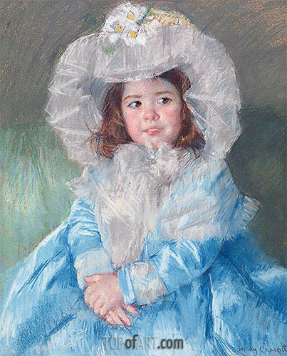 Margot In Blue, 1902 | Cassatt| Painting Reproduction