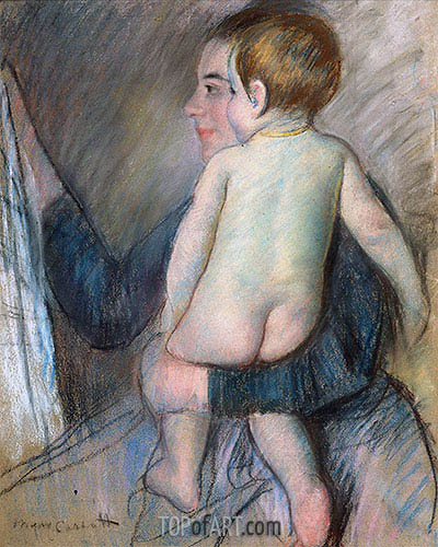 Young Woman Holding a Child (At the Window), c.1890 | Cassatt | Painting Reproduction