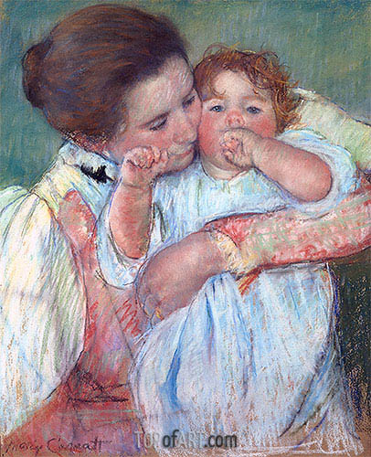 Mother and Child (Motherhood), 1897 | Cassatt | Painting Reproduction
