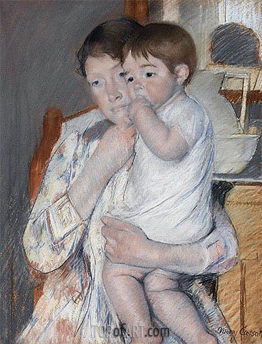 Cassatt | Woman and Child before a Washstand, 1889