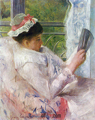 Lydia Cassatt Reading, 1878 | Cassatt | Painting Reproduction