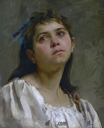 Cassatt | Pensive Roman Girl, undated