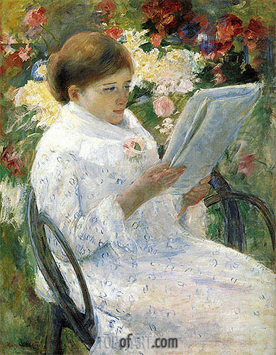 Lydia Cassatt Reading, c.1878/79 | Cassatt | Painting Reproduction