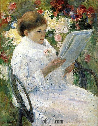 Cassatt | Lydia Cassatt Reading, c.1878/79