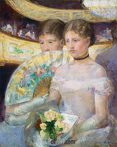 The Loge, 1882 | Cassatt | Gemälde Reproduktion