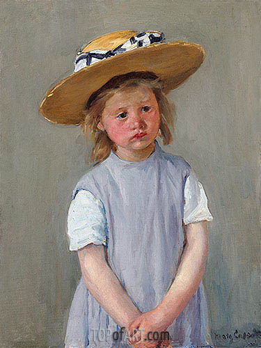Child in a Straw Hat, c.1886 | Cassatt | Painting Reproduction