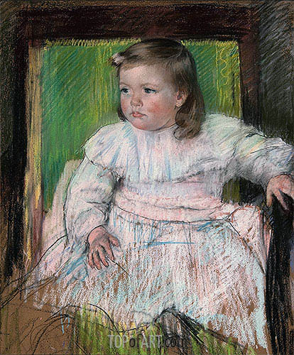 The Pink Sash (Ellen Mary Cassatt), c.1898 | Cassatt| Painting Reproduction