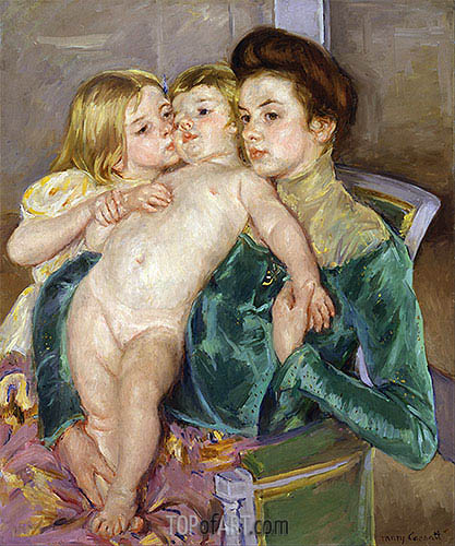 The Caress, 1902 | Cassatt | Painting Reproduction