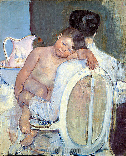Woman Sitting with a Child in Her Arms, c.1890 | Cassatt| Painting Reproduction