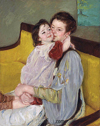 Maternal Caress, c.1902 | Cassatt | Painting Reproduction