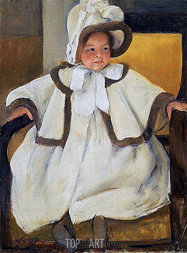 Ellen Mary in a White Coat, c.1896 | Cassatt | Gemälde Reproduktion