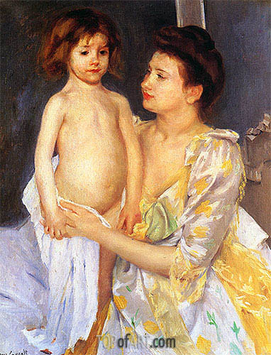 Jules Being Dried by His Mother, 1900 | Cassatt | Gemälde Reproduktion