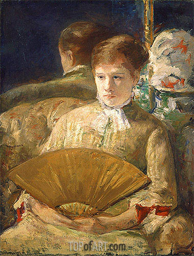 Woman with a Fan (Miss Mary Ellison), c.1878/79 | Cassatt | Gemälde Reproduktion