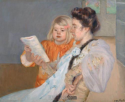 The Reading Lesson, c.1901 | Cassatt | Painting Reproduction