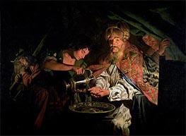 Pilate Washing his Hands, undated von Matthias Stomer | Gemälde-Reproduktion