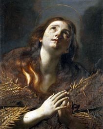 The Penitent Magdalene, undated by Mattia Preti | Painting Reproduction
