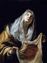Saint Veronica with the Veil, c.1655/60 by Mattia Preti | Painting Reproduction