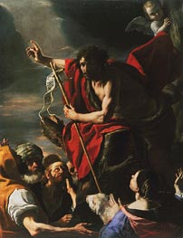 St. John the Baptist Preaching, 1667 by Mattia Preti | Painting Reproduction
