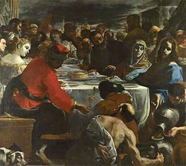 The Marriage at Cana | Mattia Preti | outdated