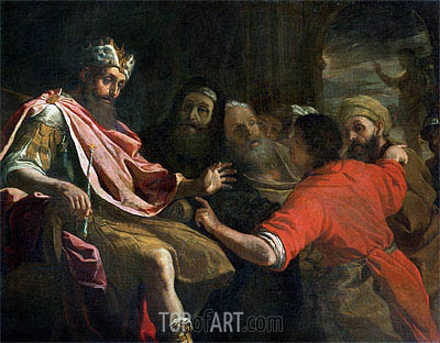 Daniel Interpreting Nebuchadnezzar's First Dream, undated | Mattia Preti | Painting Reproduction