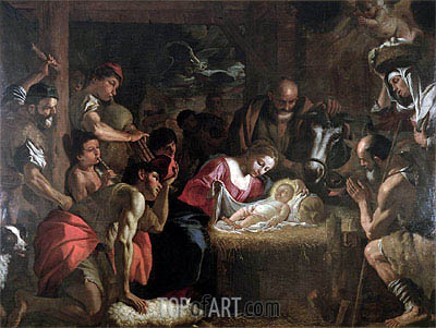 The Adoration of the Shepherds, undated | Mattia Preti | Painting Reproduction