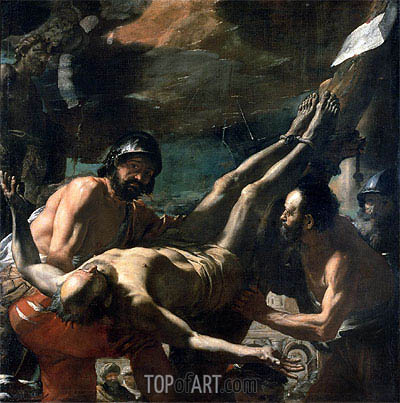 The Martyrdom of St. Peter, c.1656/60 | Mattia Preti | Painting Reproduction