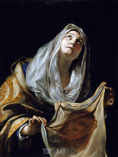 Saint Veronica with the Veil, c.1655/60 | Mattia Preti| Painting Reproduction