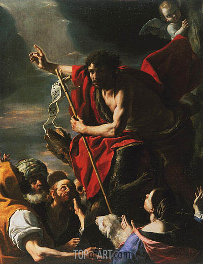 St. John the Baptist Preaching, 1667 | Mattia Preti| Painting Reproduction