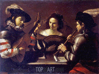 Concert, c.1630 | Mattia Preti | Painting Reproduction
