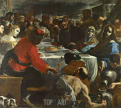 The Marriage at Cana, c.1655/60 | Mattia Preti | Painting Reproduction