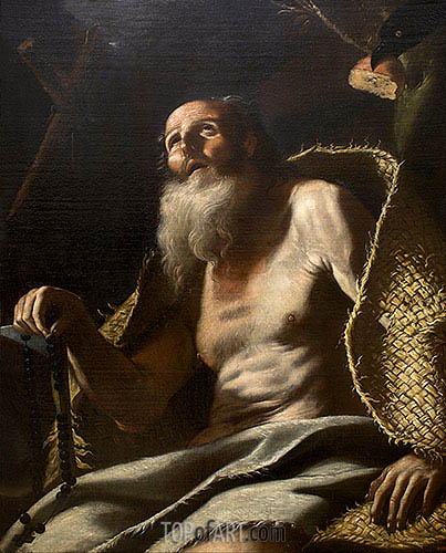 St. Paul the Hermit, c.1660 | Mattia Preti | Gemälde Reproduktion