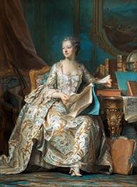 Marquise de Pompadour, c.1749/55 von Maurice Quentin de La Tour | Gemälde-Reproduktion