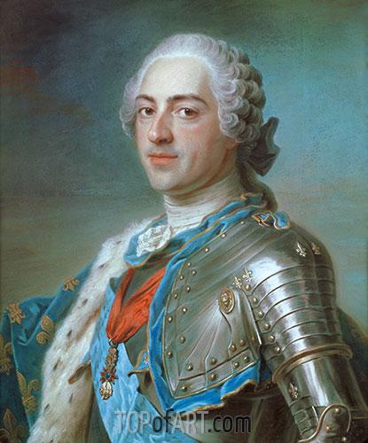 Portrait of Louis XV of France, 1748 | Maurice Quentin de La Tour | Painting Reproduction