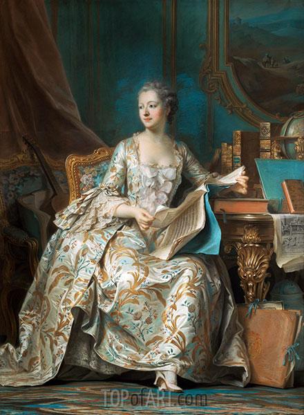 Marquise de Pompadour, c.1749/55 | Maurice Quentin de La Tour | Painting Reproduction