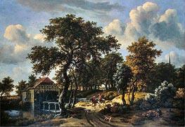 The Travelers, 1662 von Meindert Hobbema | Gemälde-Reproduktion