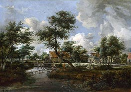 The Watermills at Singraven near Denekamp, c.1665/70 by Meindert Hobbema | Painting Reproduction