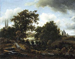 Imaginary View of Deventer | Meindert Hobbema | outdated