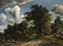 Woodland Road, c.1670 by Meindert Hobbema | Painting Reproduction