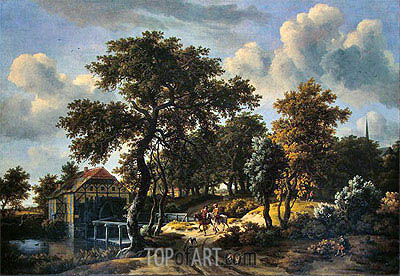 The Travelers, 1662 | Meindert Hobbema | Painting Reproduction