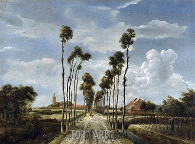 The Avenue at Middelharnis, 1689 | Meindert Hobbema| Gemälde Reproduktion