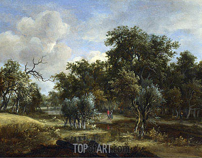 A Stream by a Wood, c.1663 | Meindert Hobbema| Painting Reproduction
