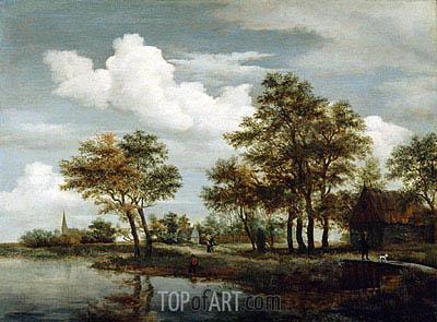 Meindert Hobbema | A River Scene, 1658