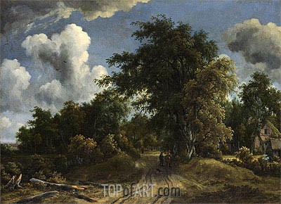 Woodland Road, c.1670 | Meindert Hobbema| Painting Reproduction