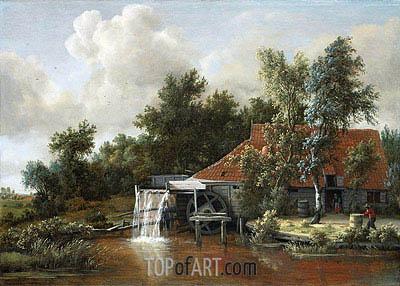 Meindert Hobbema | A Watermill, 1668