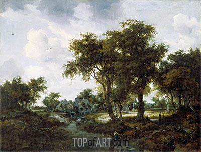 Meindert Hobbema | The Water Mill (The Trevor Landscape), 1667