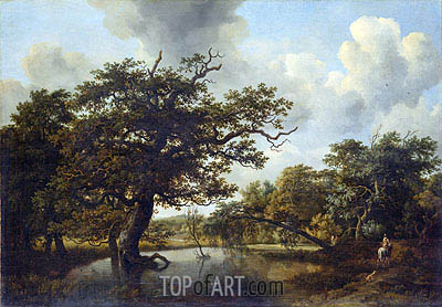 The Old Oak, 1662 | Meindert Hobbema | Painting Reproduction