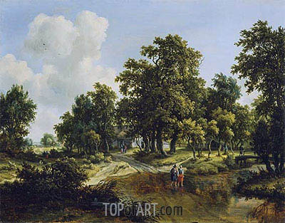The Outskirts of a Wood, c.1660/70 | Meindert Hobbema| Gemälde Reproduktion