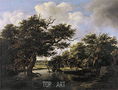 Woodland Pond, c.1660 | Meindert Hobbema| Painting Reproduction