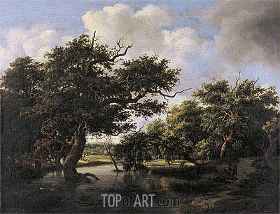 Meindert Hobbema | Woodland Pond, c.1660