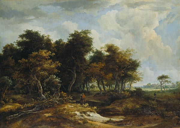 Entrance to the Forest,  | Meindert Hobbema | Painting Reproduction